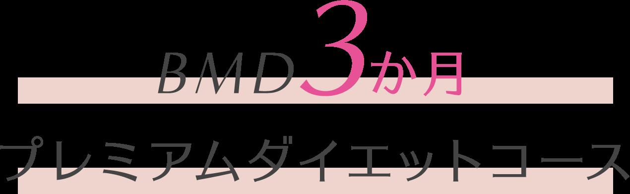 BMD3か月プレミアムダイエットコース